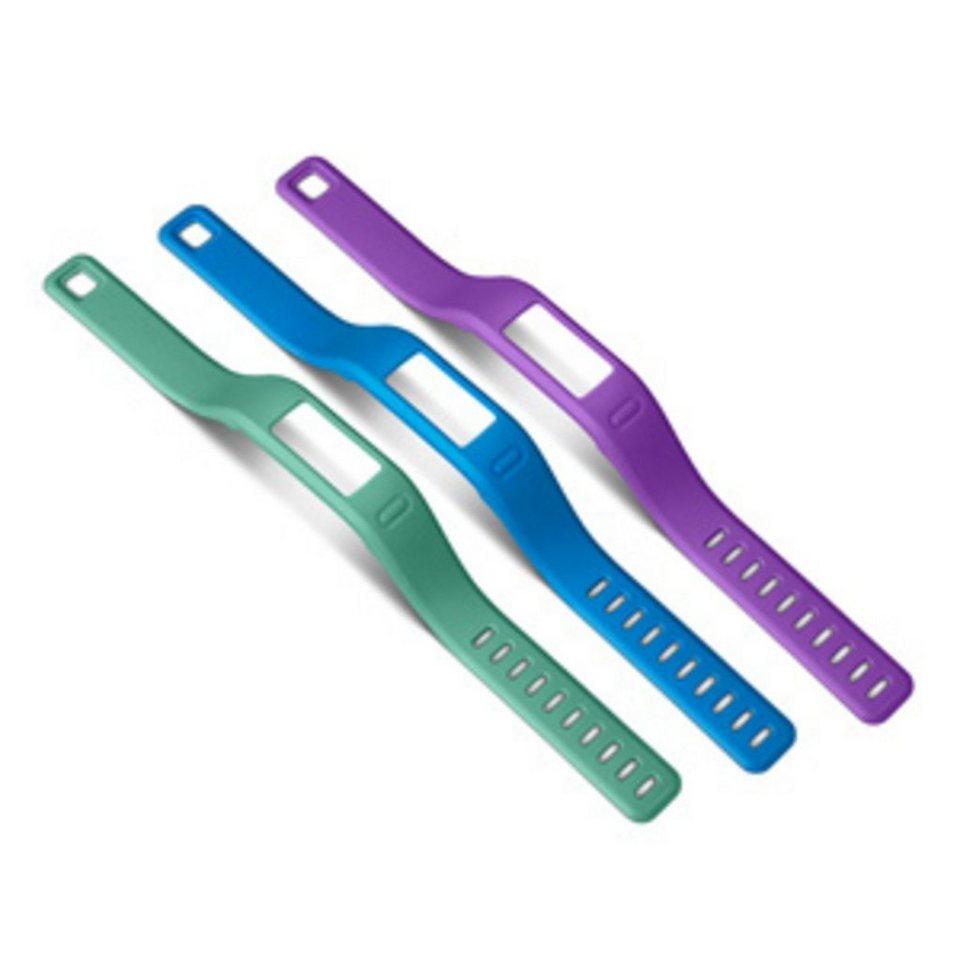 Garmin Ersatzarmbänder »vivofit blau, lila, grün (groß)« in Blau