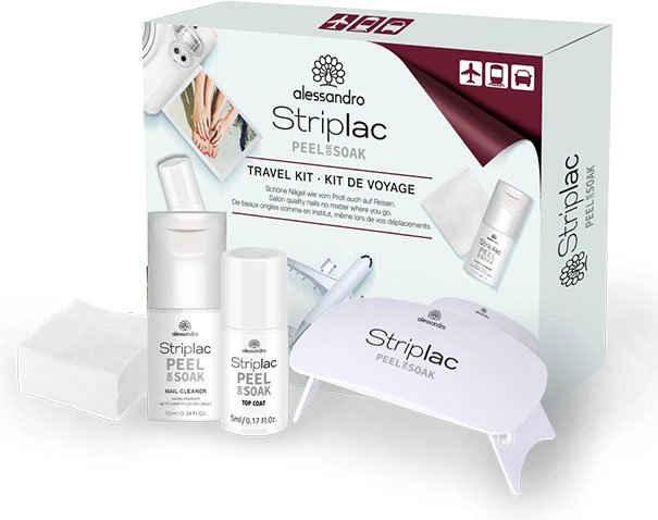 alessandro international Nagellack-Set »Striplac Travel Kit«, 4-tlg.