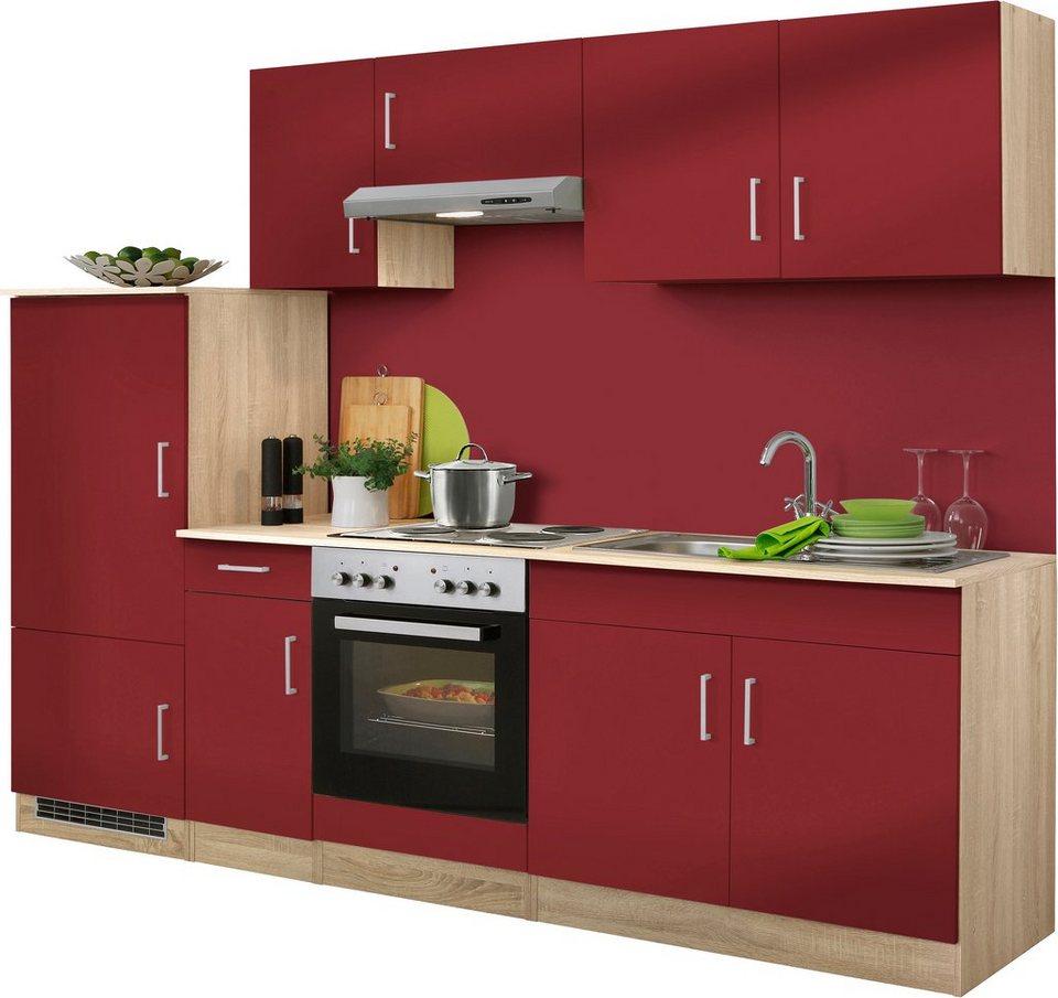HELD MÖBEL Küchenzeile mit E-Geräten »Melbourne«, Breite 260 cm ...