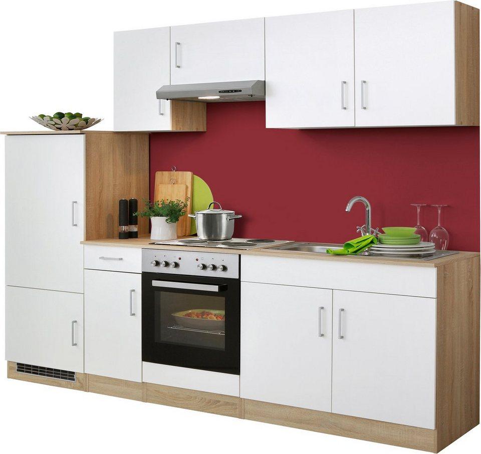 HELD MÖBEL Küchenzeile »Melbourne«, Mit E Geräten, Breite 260 Cm