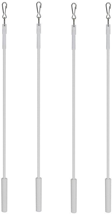 Schleuderstab, indeko, Fixmaß (4 Stck.) in weiß