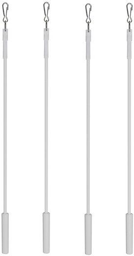 Schleuderstab, indeko, Schiebevorhänge, Gardinen, (Set, 4-St), im Fixmaß