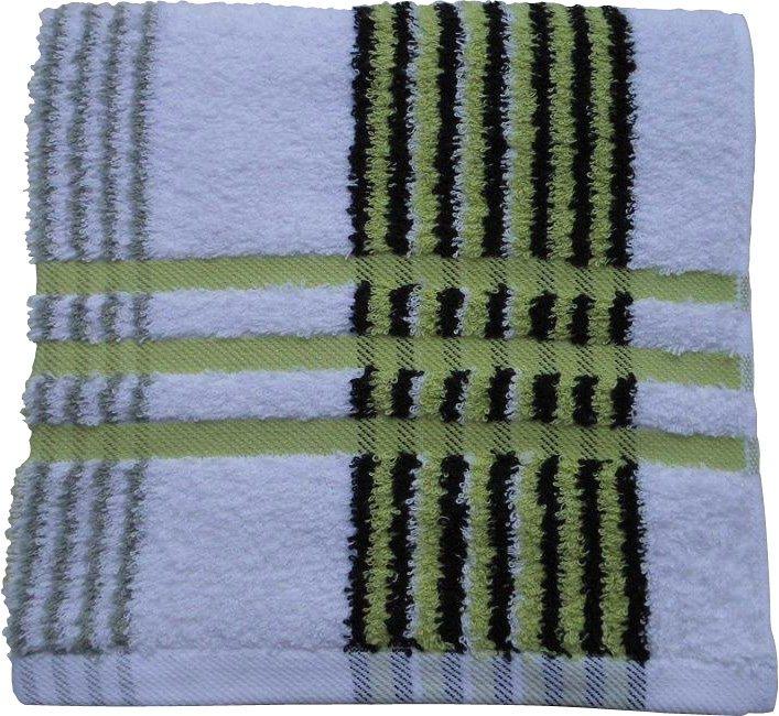 Badetuch, Gözze, »Sylt«, mit feinen Streifen in grün-schwarz