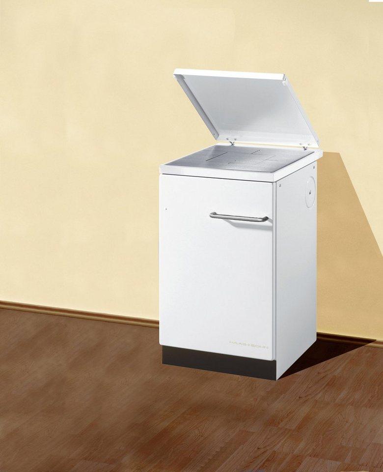 Festbrennstoffherd »HA 40.5 A«, Stahl weiß, 6 kW, Dauerbrand, Kochfeld in weiß