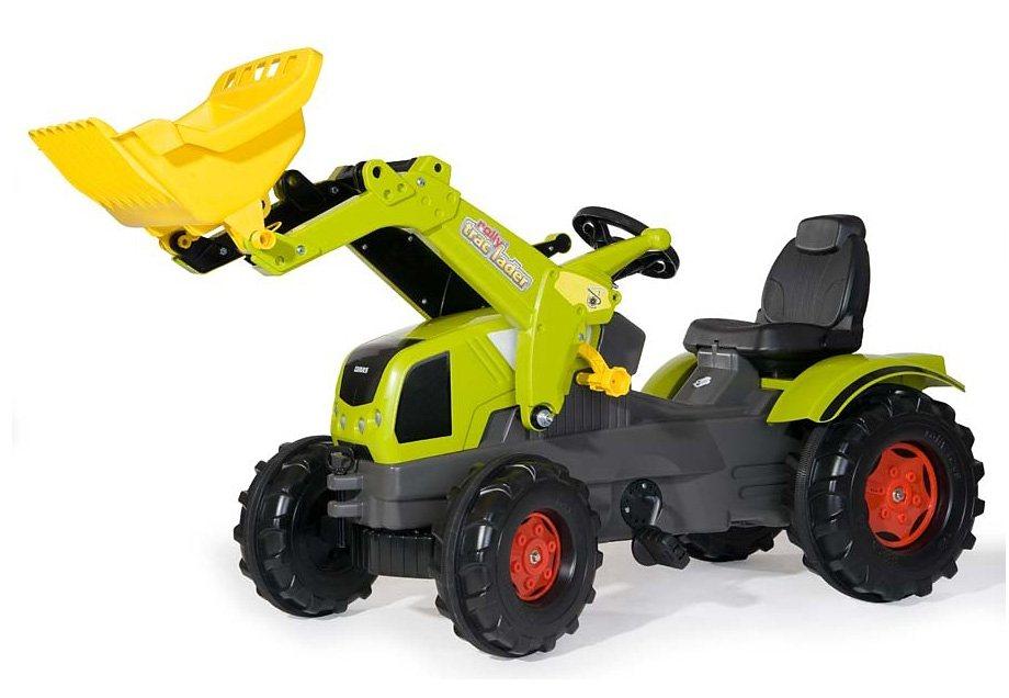 rolly toys® Trettraktor mit Frontlader und Flüsterreifen »rollyFarmtrac Claas Axos 340« in grün