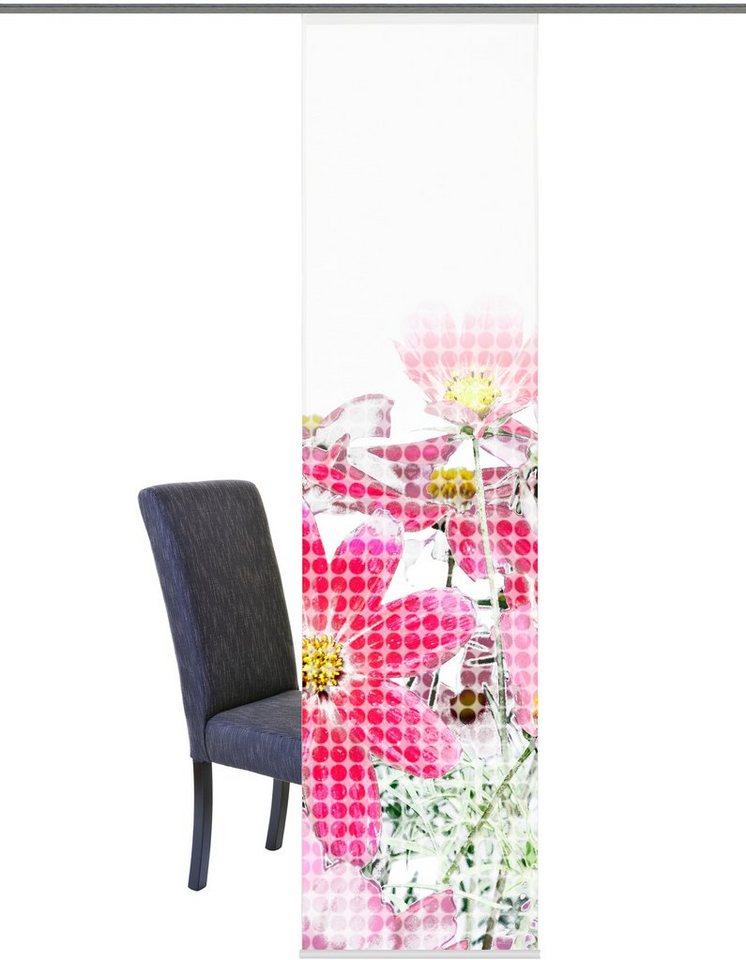 Schiebegardine, Home Wohnideen, »Bozeman«, mit Klettband (1 Stück mit Zubehör) in rose