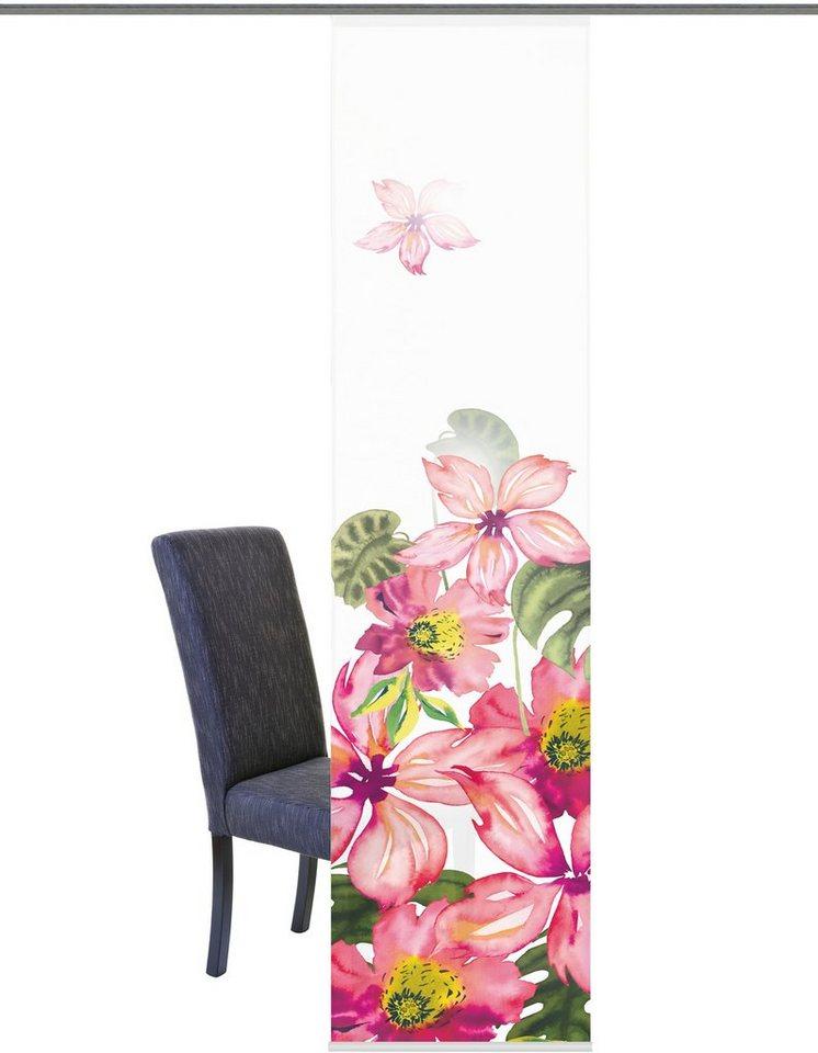 Schiebegardine, Home Wohnideen, »Kirkland«, mit Klettband (1 Stück mit Zubehör) in rose