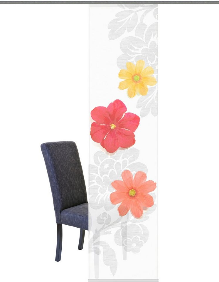 schiebegardine home wohnideen finley mit klettband 1 st ck mit zubeh r online kaufen otto. Black Bedroom Furniture Sets. Home Design Ideas