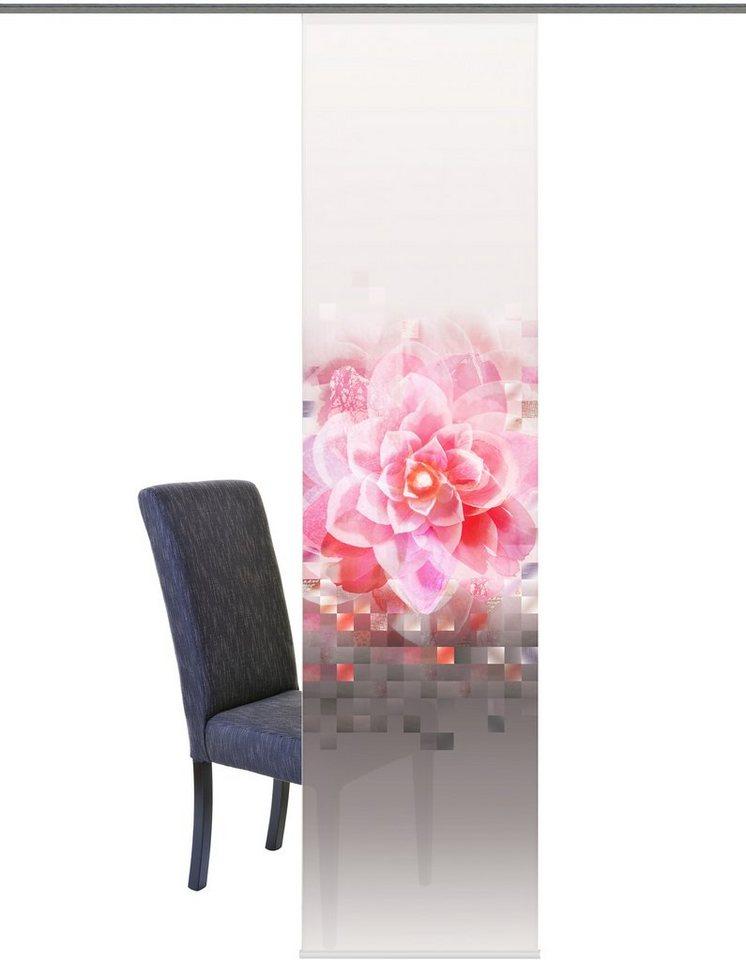 Schiebegardine, Home Wohnideen, »Billings«, mit Klettband (1 Stück mit Zubehör) in rose