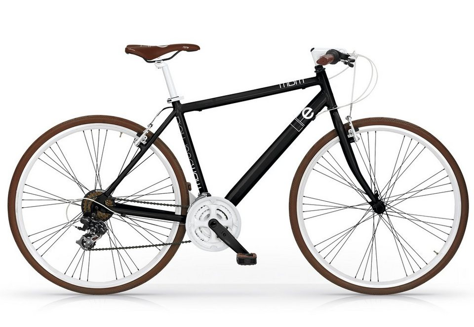 Fitnessbike, 28 Zoll, schwarz, 21 Gang Shimano Nexus, »Life Mod. 530«, MBM in schwarz