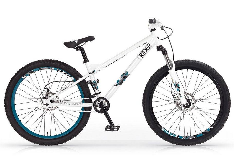 Dirtbike, 26 Zoll, weiß-blau, »Hero Disc«, MBM in weiß-blau