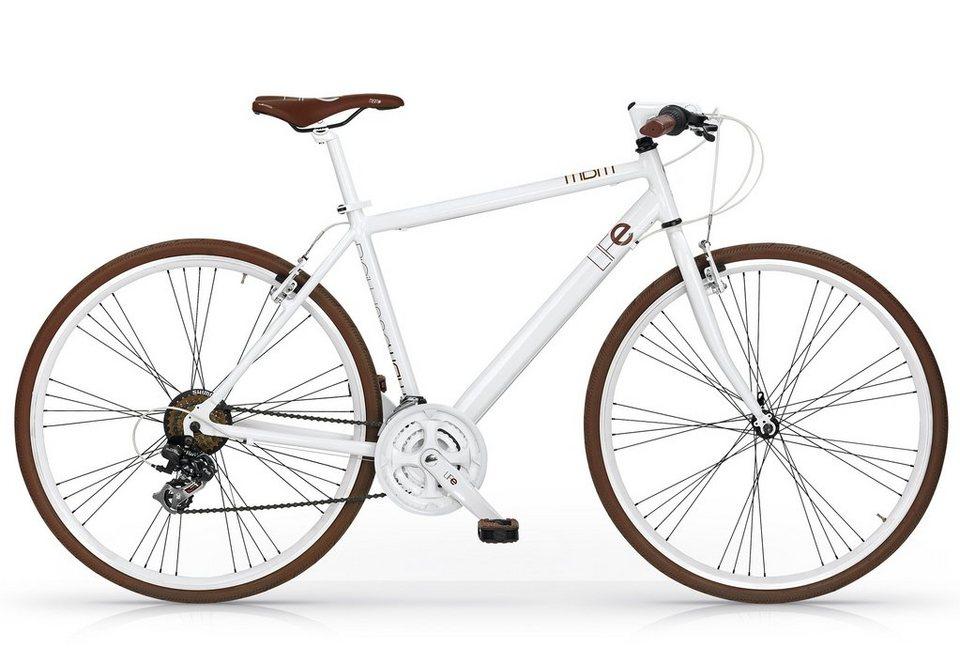 Fitnessbike, 28 Zoll, weiß, 21 Gang Shimano Nexus, »Life Mod. 530«, MBM in weiß