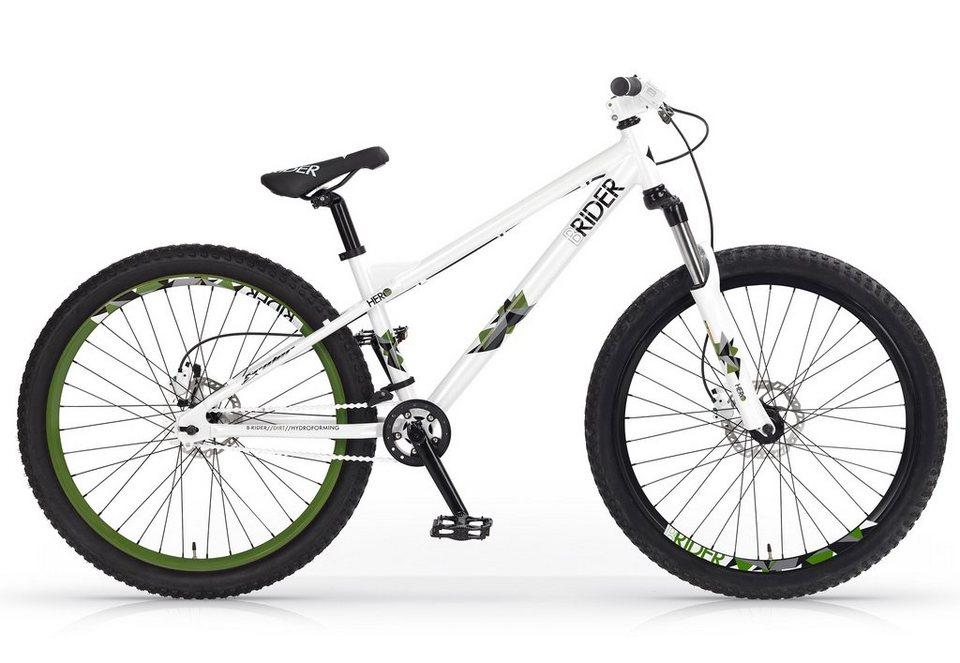 Dirtbike, 26 Zoll, weiß-grün, »Hero Disc«, MBM in weiß-grün