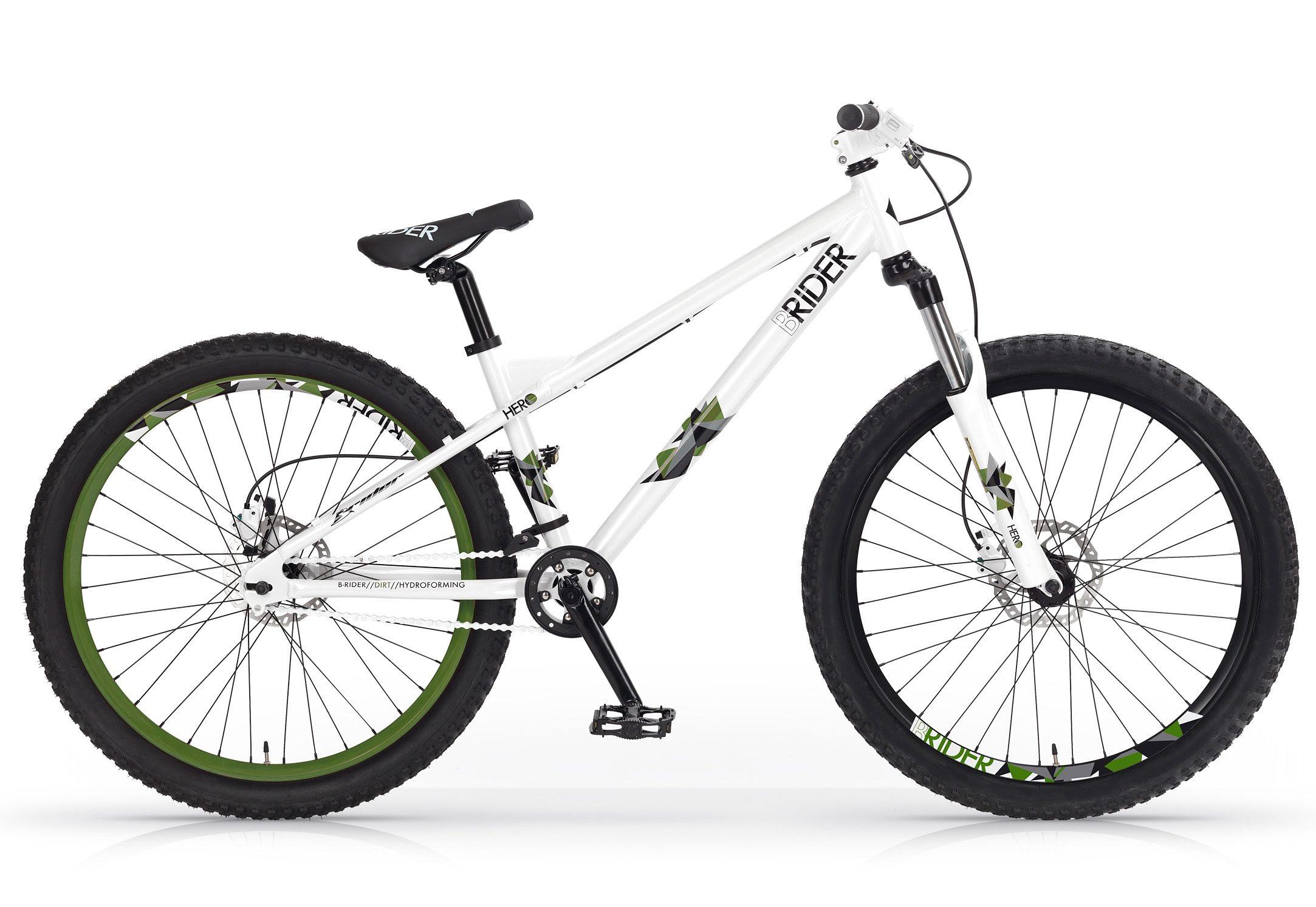 Dirtbike, 26 Zoll, weiß-grün, »Hero Disc«, MBM