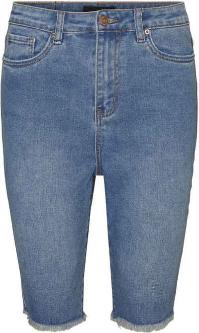 Vero Moda Curve Jeansshorts Mit ausgefranstem Saum
