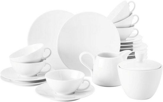 Seltmann Weiden Teeservice »Life« (20-tlg), Porzellan, mit Linien-Dekor