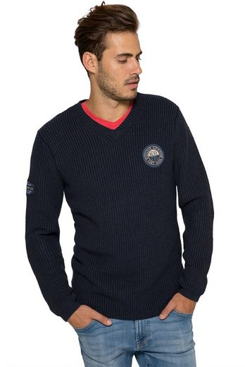 CAMP DAVID V-Ausschnitt-Pullover mit V-Ausschnitt