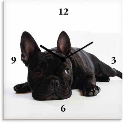 Artland Wanduhr »Bulldogge« (lautlos, ohne Tickgeräusche, nicht tickend, geräuschlos - wählbar: Funkuhr o. Quarzuhr, moderne Uhr für Wohnzimmer, Küche etc. - Stil: modern)