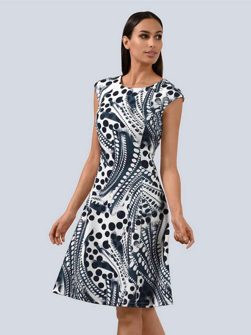 Alba Moda Sommerkleid mit leicht überschnittener Schulter