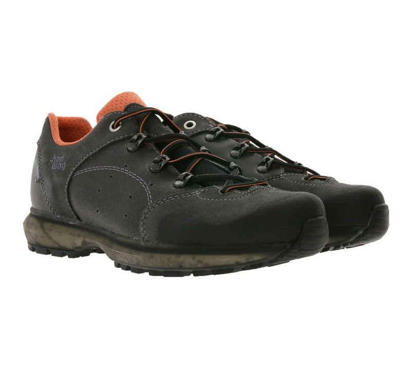 Hanwag »hanwag Saldana Low Top-Schuhe bequeme Damen Wanderschuhe Outdoor-Schuhe aus Echtleder Grau« Wanderschuh