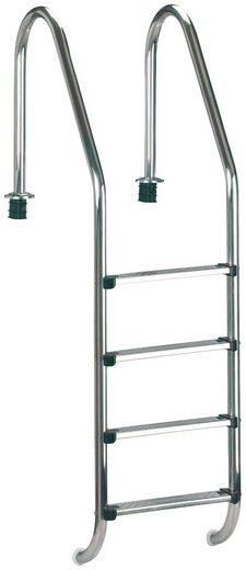 CLEAR POOL Pool-Einhängeleiter »Tiefbeckenleiter Edelstahl«, 4 Stufen