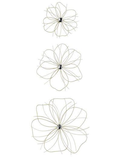 Wand-Deko Blüte im 3er-Set