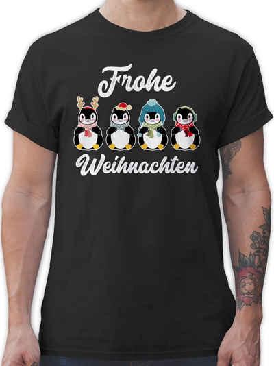 Shirtracer T-Shirt »Frohe Weihnachten - Pinguine - weiß - Weihnachten & Silvester - Herren Premium T-Shirt«