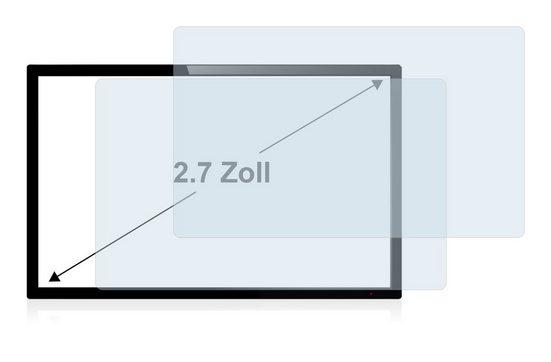 BROTECT Schutzfolie »für 6.9 cm (2.7 Zoll) Displays 58 x 33 mm«, (2 Stück), Folie Schutzfolie klar