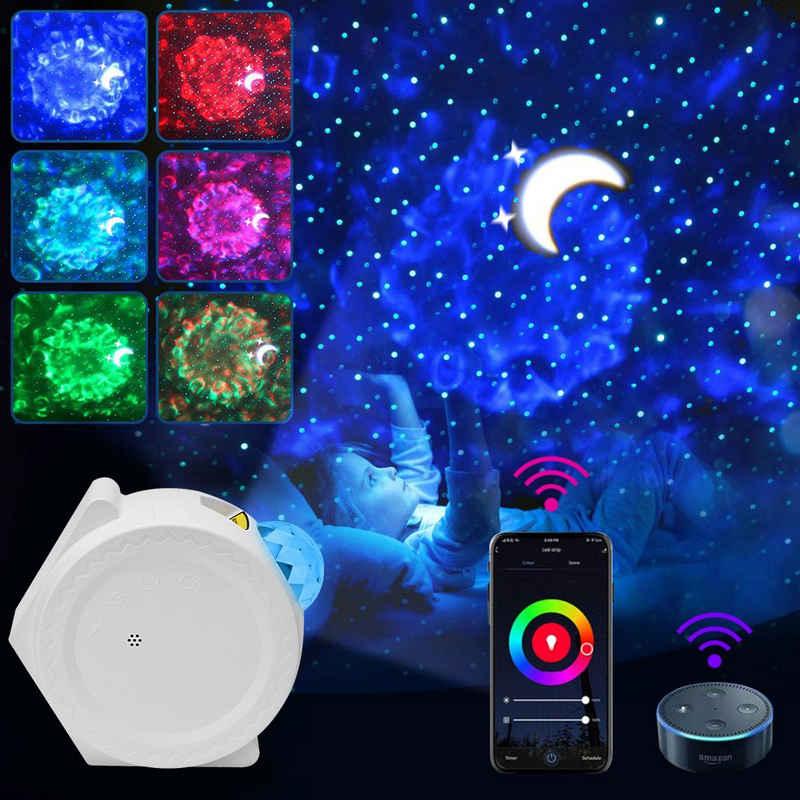 Rosnek Bettleuchte »LED Sternenhimmel Projektor Nachtlicht Smart Wifi Lampe,mit Wasserwellen-Effekt«