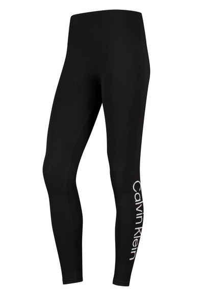 Calvin Klein Seamless Leggings mit Logoschriftzug am Bein