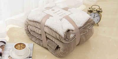 Bett, »Sherpa Warme Fleece-Wende-Decke«, Heimtex, Füllung: Teddy Fleece, Super weiches Plüsch warmes Zuhause Bett Decke