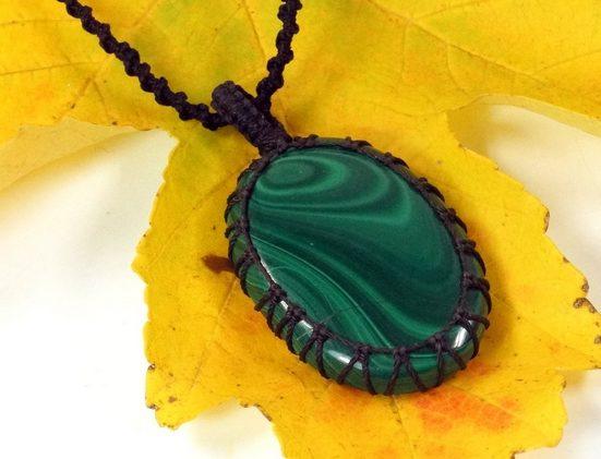 Guru-Shop Perlenkette »Kette Malachit«