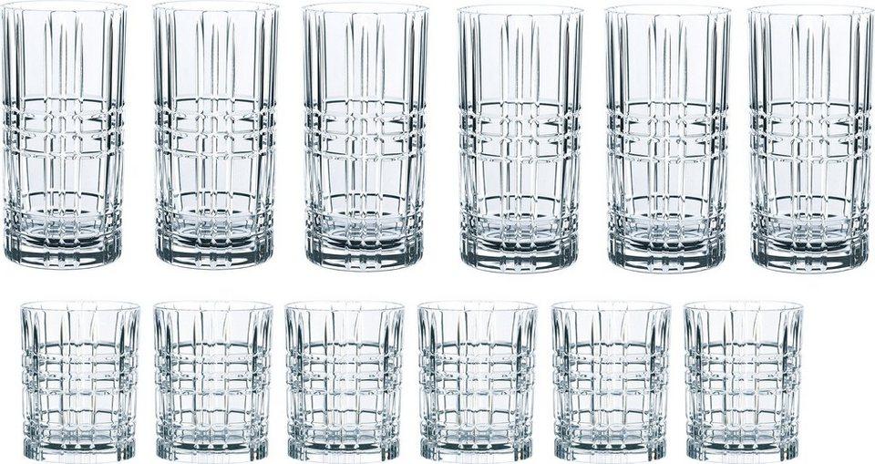 Nachtmann Gläser-Set »Highland«, Kristallglas, mit markantem Schliff, 12-teilig