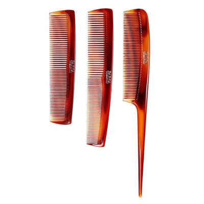 PARSA Beauty Haarkamm »3-teiliges Kammset mit Stielkamm, Frisierkamm und Taschenkamm«