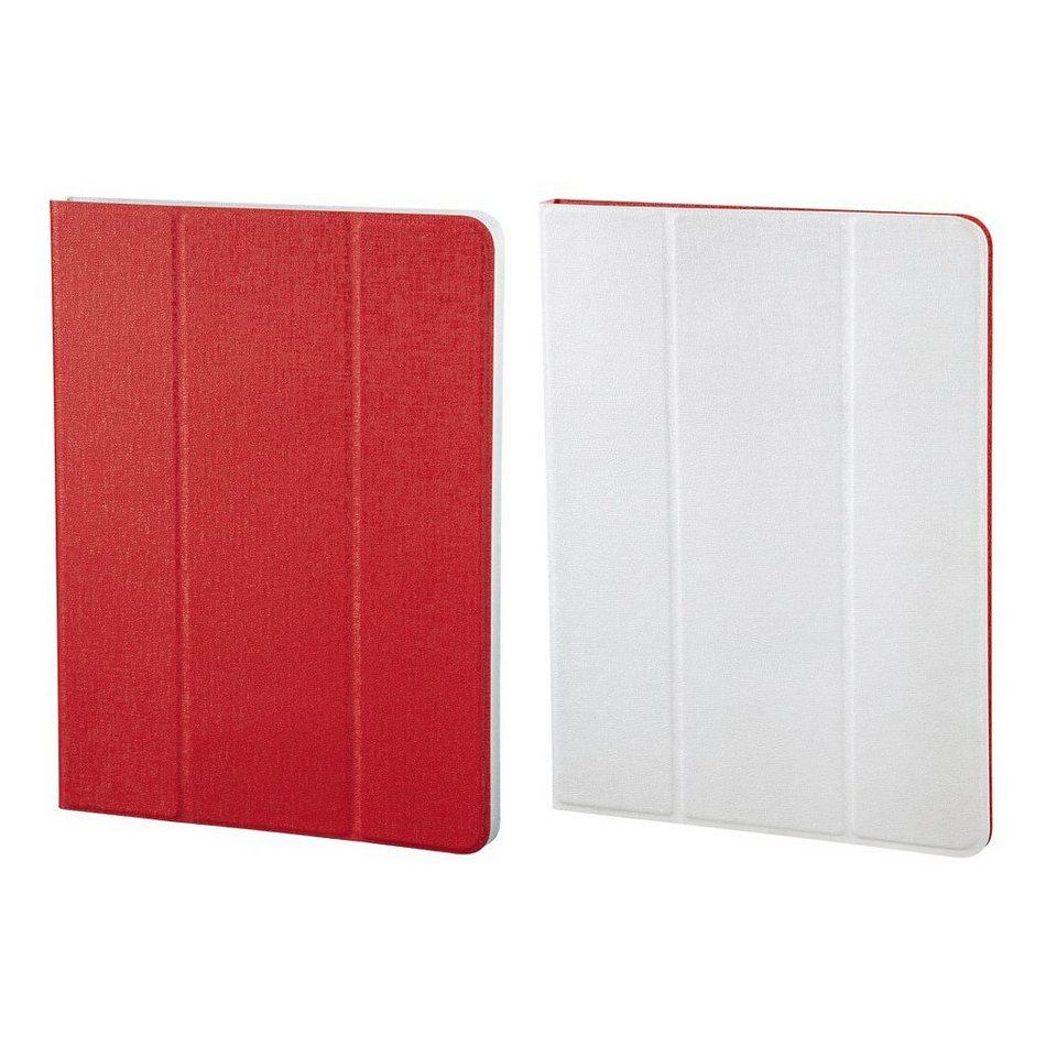 Hama Portfolio TwoTone für alle Tablets bis 25,6 cm (10,1), Rot/Weiß in Weiss