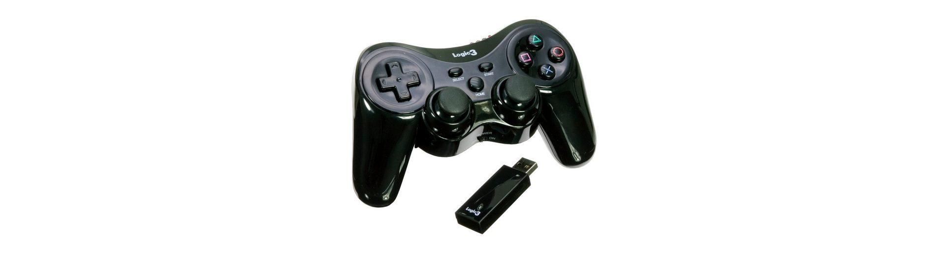 LOGIC3 Joypad Six Axis schwarz kabellos »(PS3)«