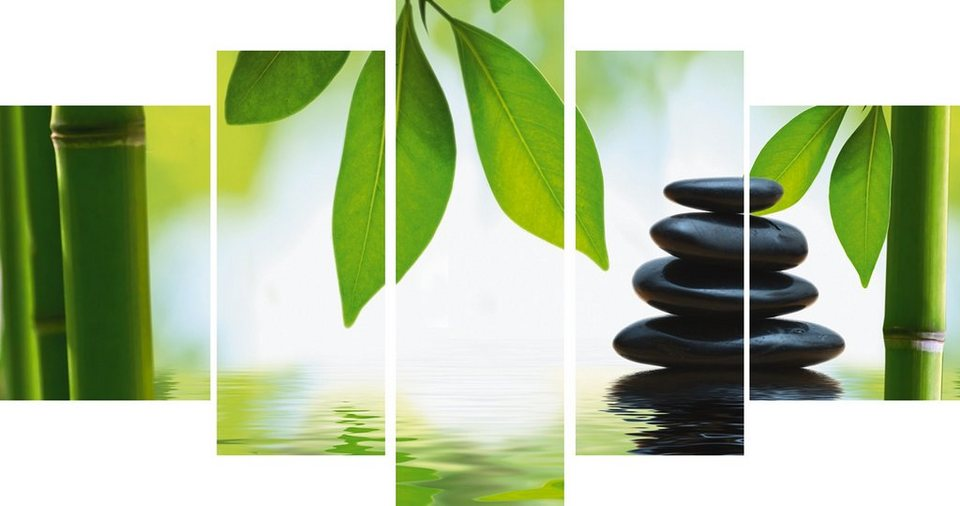 Leinwandbild, Home affaire, »Zen Komposition«, in 2 Größen in Grün