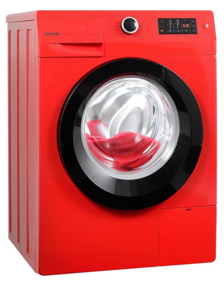 GORENJE Waschmaschine W8543T, A+++, 8 kg, 1400 U/Min in rot