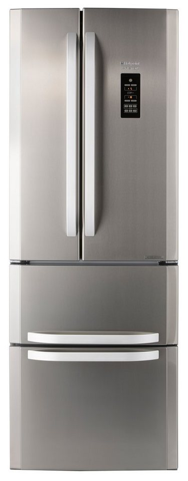 Hotpoint Side by Side E4DG AAA X O3 »Active Oxygen«, A++, NoFrost, 195,5 cm in Edelstahl