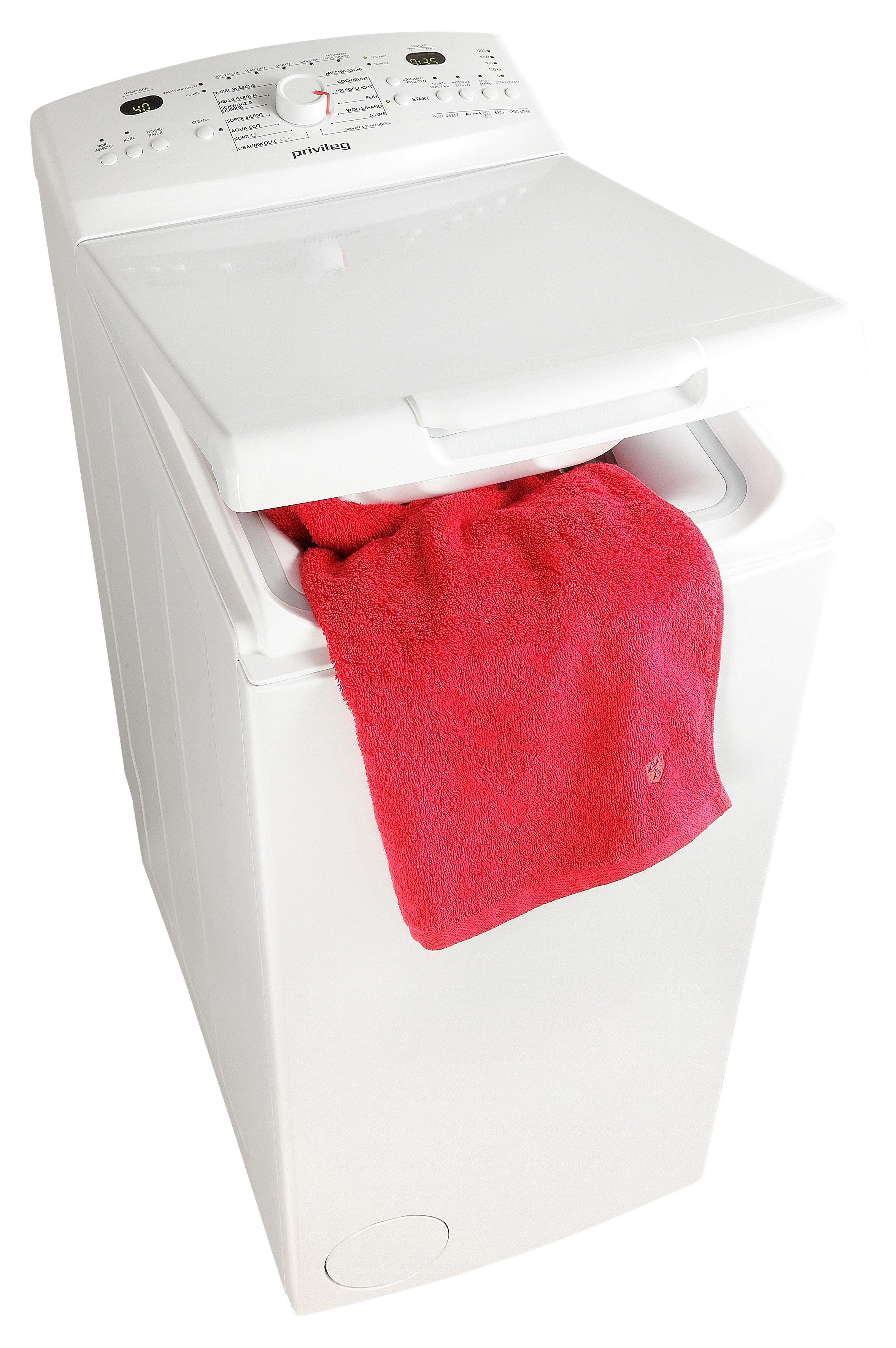 Privileg Waschmaschine Toplader PWT 4626Z, A+++, 6 kg, 1200 U/Min
