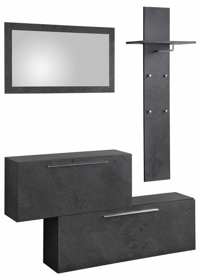 tecnos garderoben set lisboa 3 tlg mit metallgriffen online kaufen otto. Black Bedroom Furniture Sets. Home Design Ideas