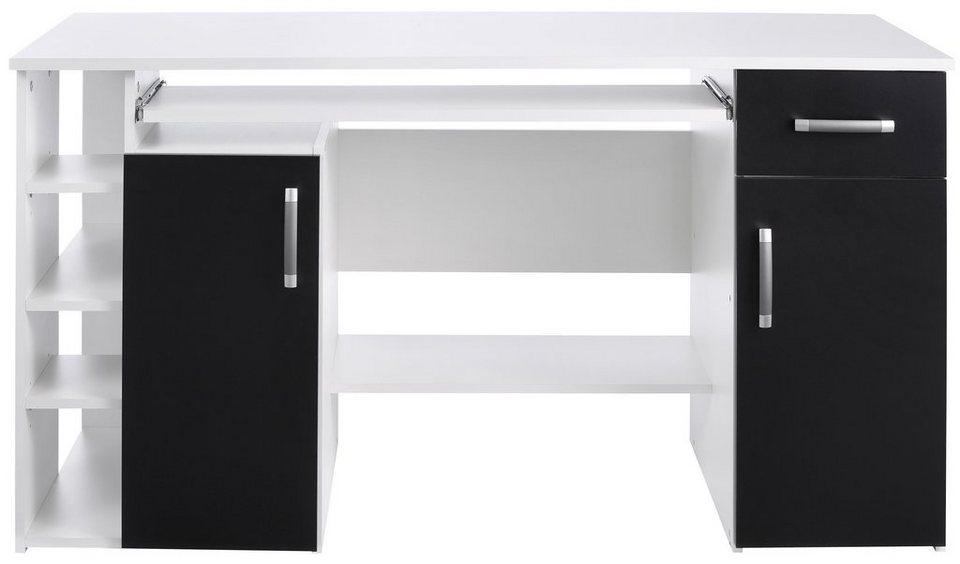 eckschreibtisch schwarz. Black Bedroom Furniture Sets. Home Design Ideas