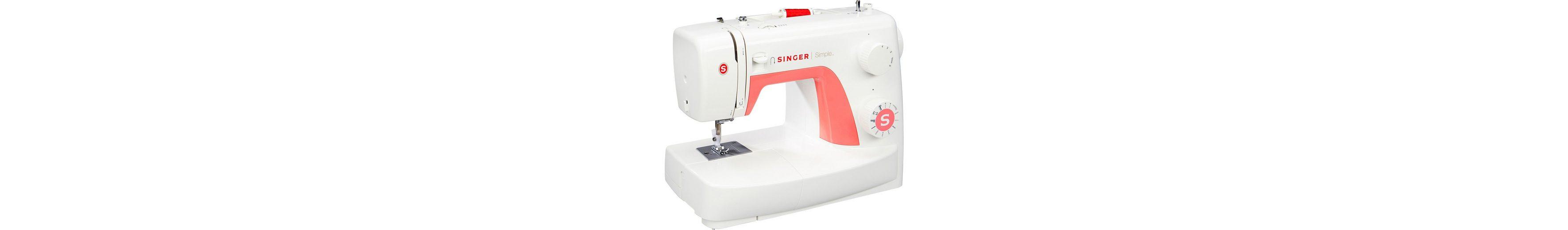 Singer Nähmaschine Simple 3210, , 10 Nähprogramme inkl. Knopfloch- und 3 Dekorationsstiche