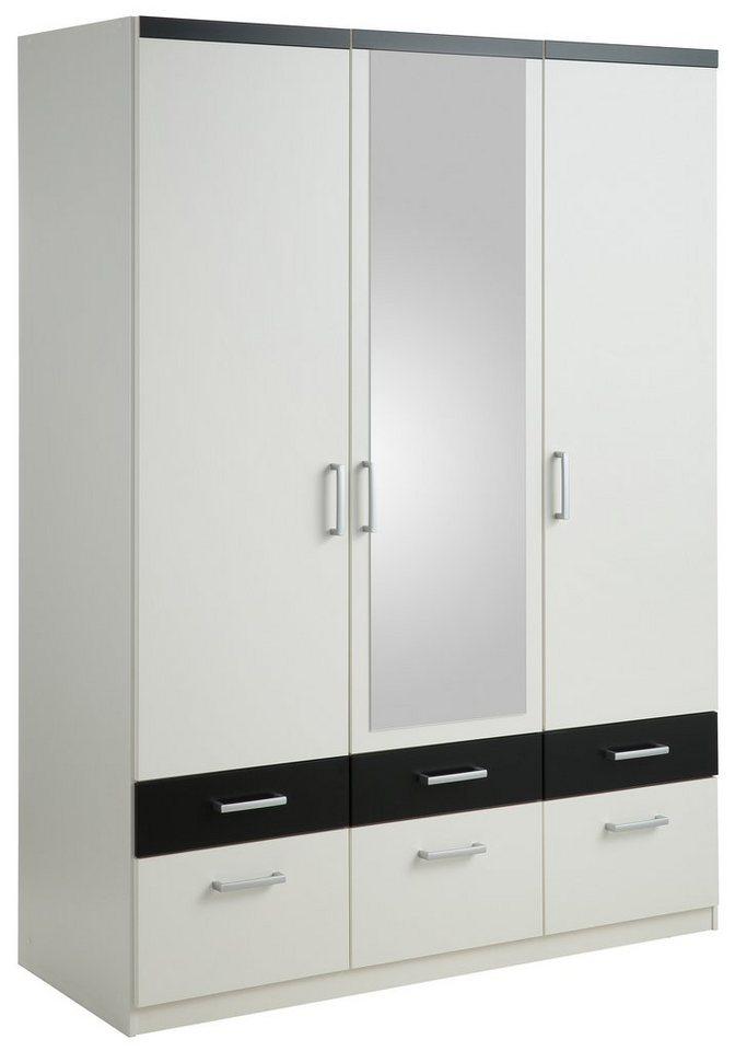 Kleiderschrank in weiß/schwarz