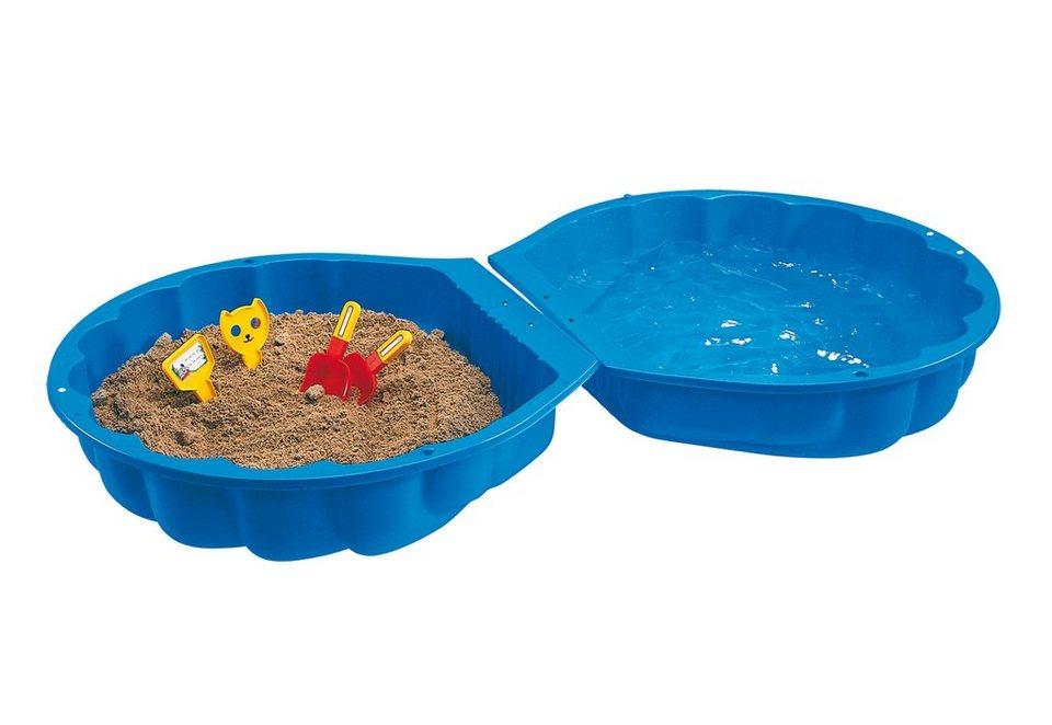 Sandkasten und Planschbecken in einem, BIG, »BIG-SAND-/WATERSHELL« in blau