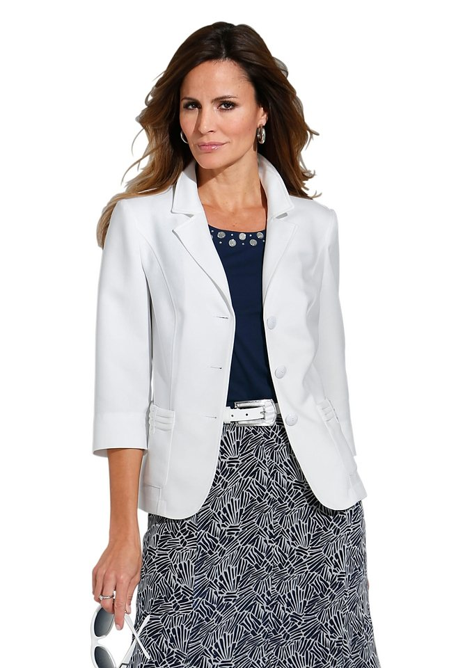 Lady Blusenblazer in weiß