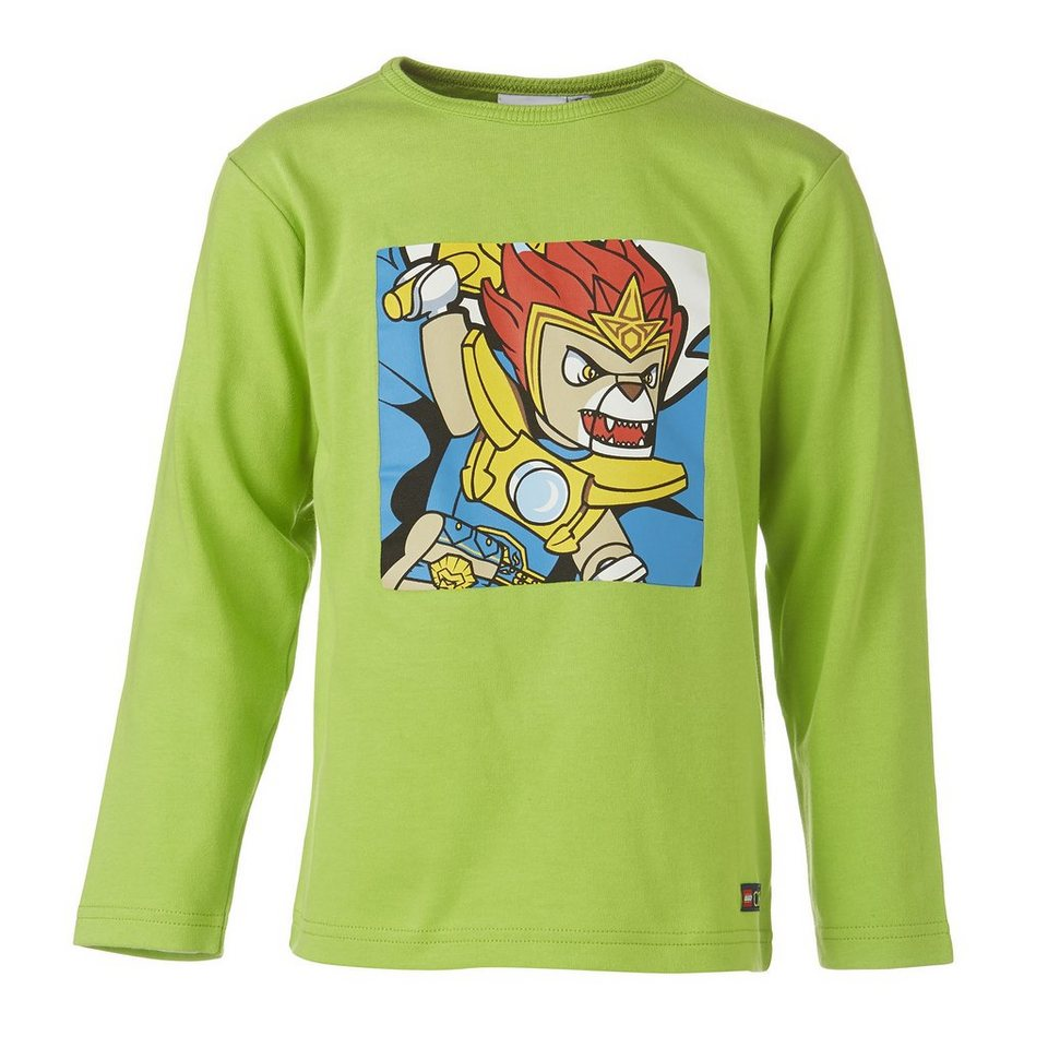 "LEGO Wear Legends of Chima Langarm-T-Shirt Tristan ""Laval"" Shirt in grün"
