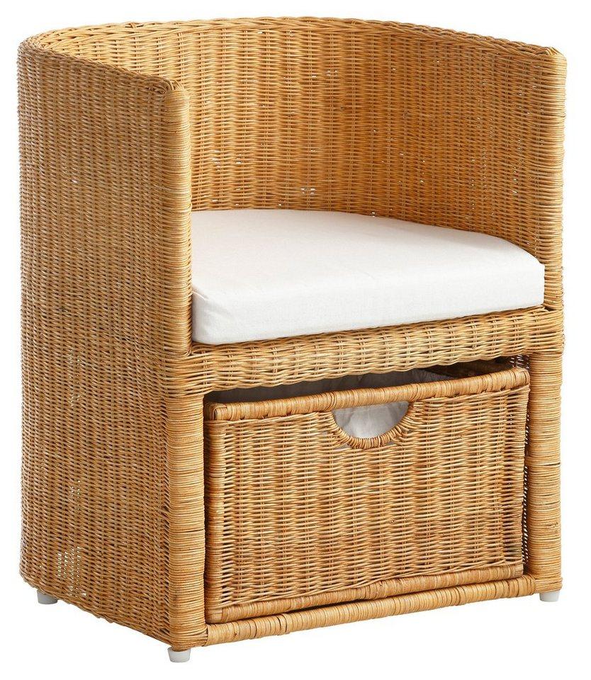 home affaire rattansessel mit schubkasten kaufen otto. Black Bedroom Furniture Sets. Home Design Ideas