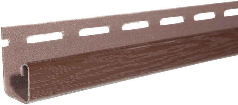 Baukulit VOX Abschlussprofil »SOFFIT Braun« (Set, 4er-Set), für Dachüberstand, je 1,525 m
