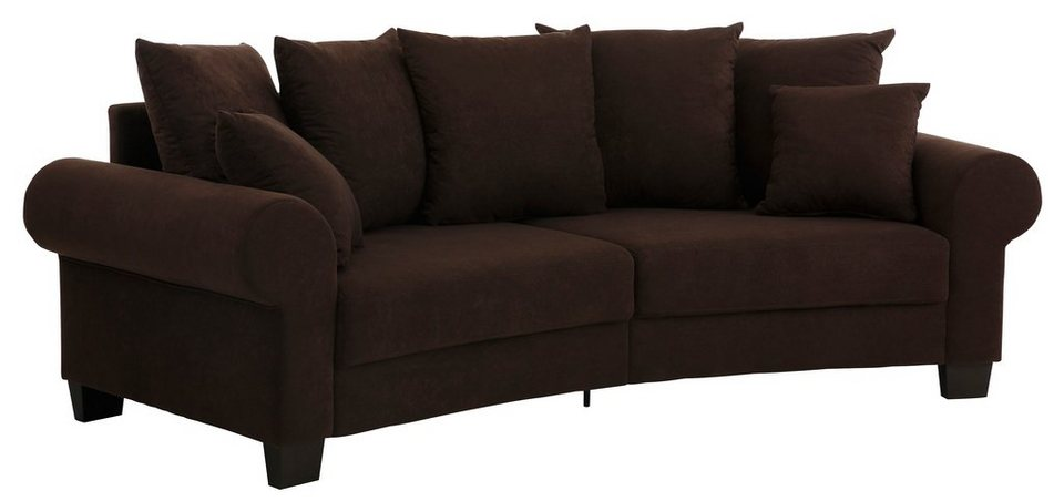 Home affaire Big-Sofa »Rocky«, Breite 260 cm in mokka